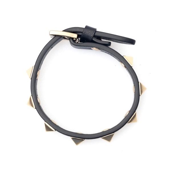 Black strap bracelet with studs                                                                                                                       Valentino Garavani VW0J0255 back