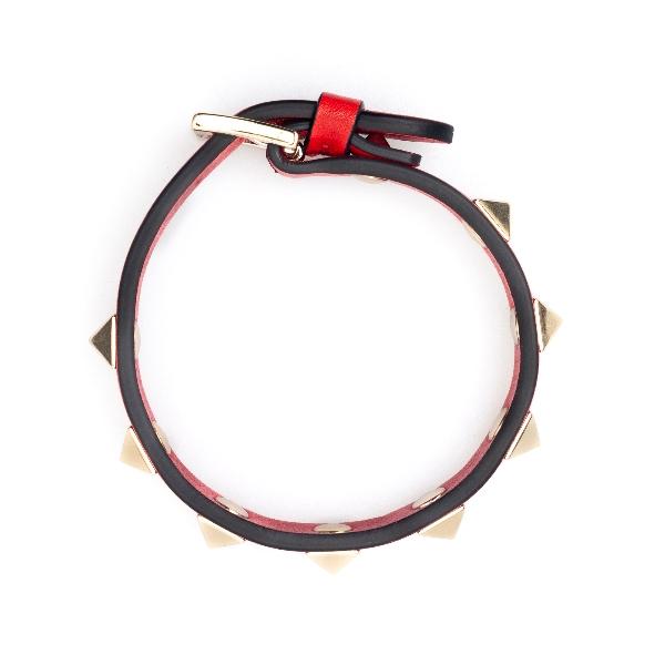 Red strap bracelet with studs                                                                                                                         Valentino Garavani VW2J0255 back