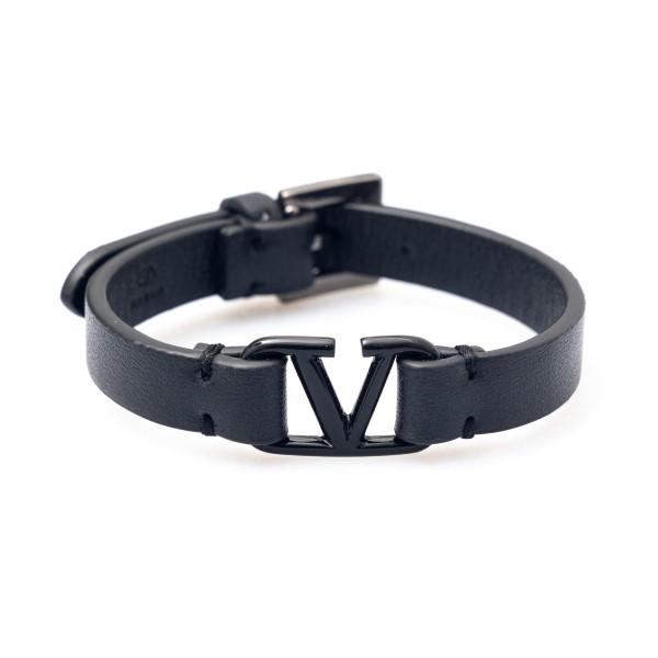 Bracciale a cinturino nero con logo                                                                                                                   Valentino Garavani VY2J0M67 retro