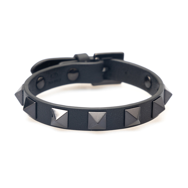 Black strap bracelet with studs                                                                                                                       Valentino Garavani WY0J0801 back
