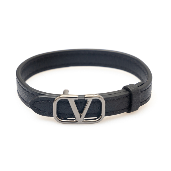 Black strap bracelet with logo                                                                                                                        Valentino Garavani WY0J0P02 back