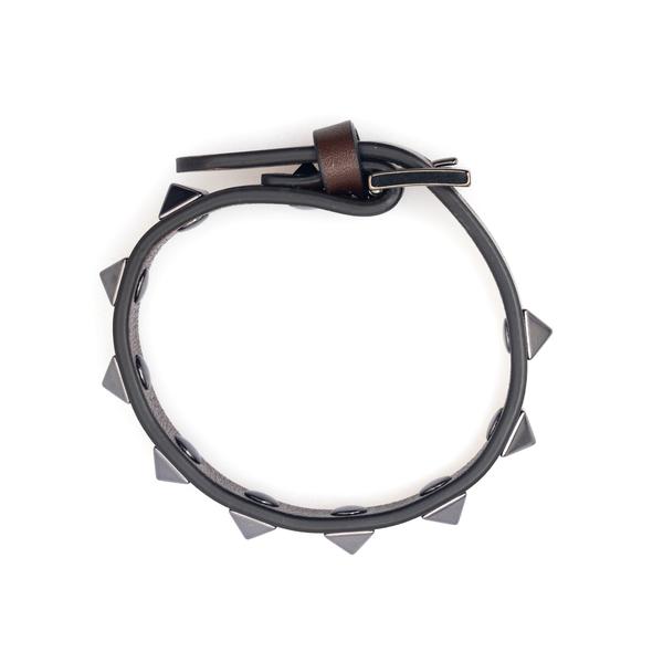 Brown strap bracelet with studs                                                                                                                       Valentino Garavani WY2J0801 back