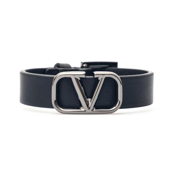 Black bracelet with metallic logo                                                                                                                     Valentino Garavani WY2J0L95 back