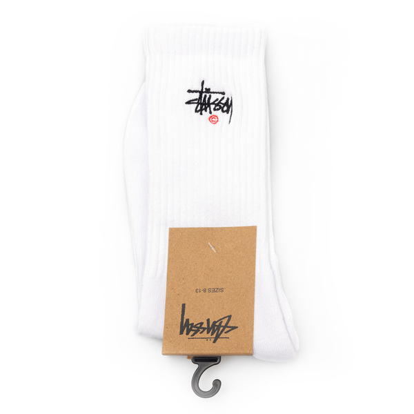 White socks with logo embroidery                                                                                                                      Stussy 138713 back