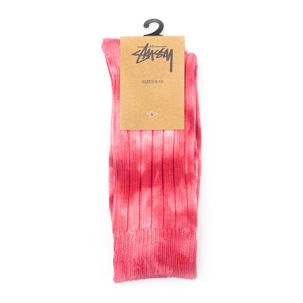 Fuchsia socks with tie-dye color                                                                                                                      Stussy 138741 back
