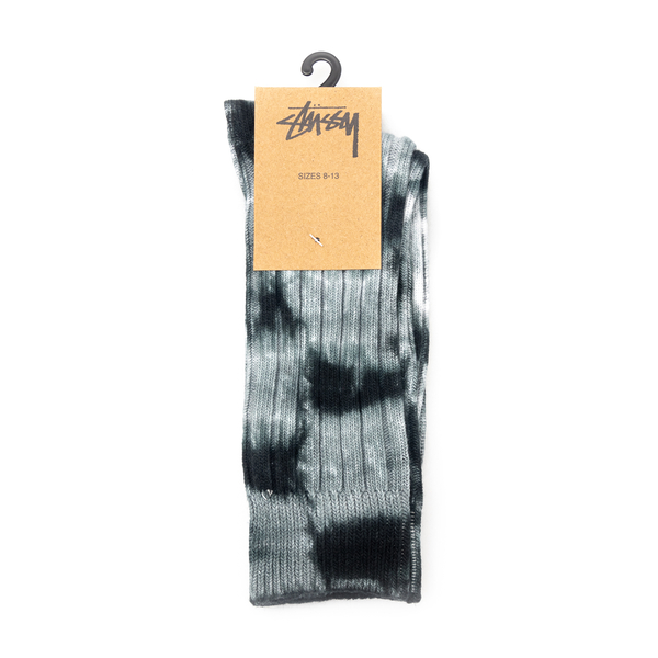 Tie-dye effect black and grey socks                                                                                                                   Stussy 138741 front