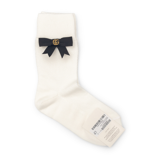 White socks with bow                                                                                                                                  Gucci 660918 back