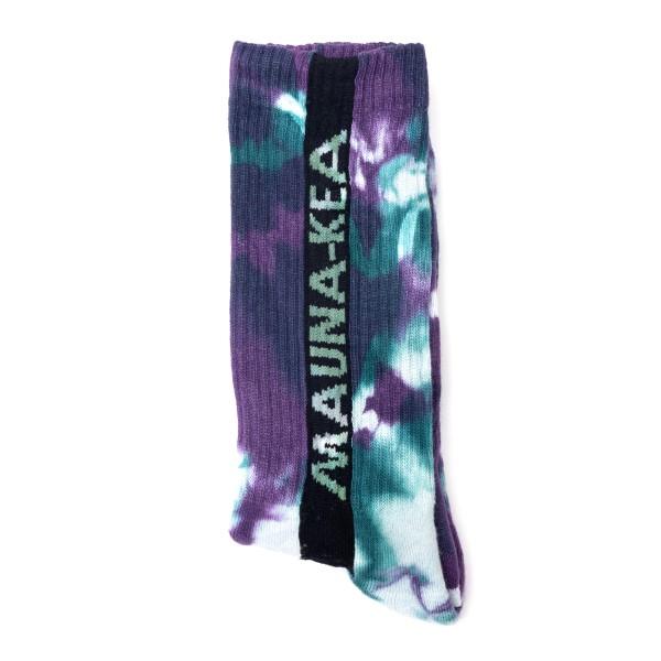 Calze multicolore tie-dye con logo                                                                                                                    Mauna Kea MKUSOC retro
