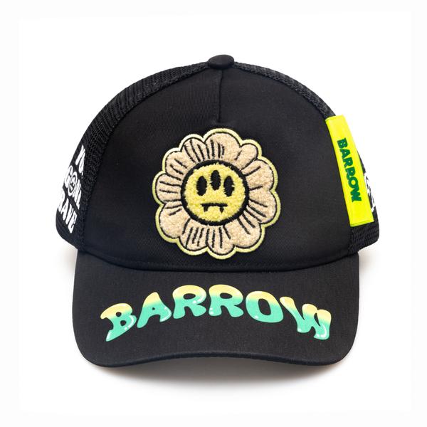 Cappello da baseball nero con patch                                                                                                                   Barrow 029553 retro