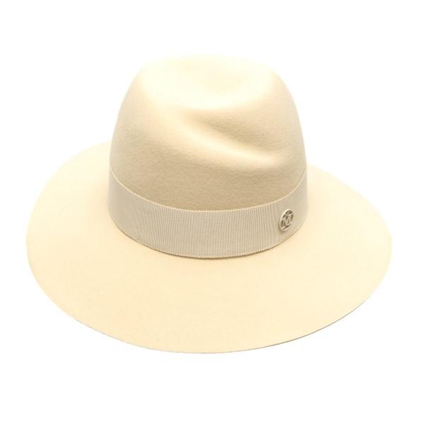 Cappello fedora bianco con logo                                                                                                                       Maison Michel 1001046005 retro