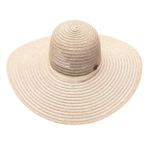 Beige braided hat with logo                                                                                                                           Maison Michel 1004039001 back