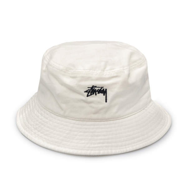 White bucket hat with embroidery                                                                                                                      Stussy 1321023 back
