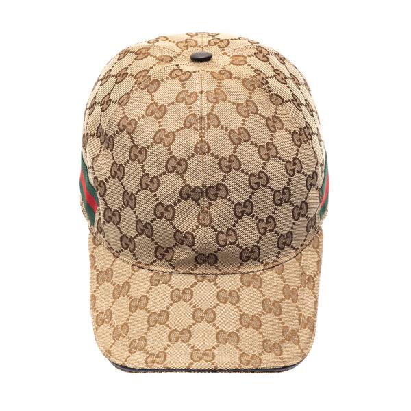 Beige baseball cap with logo                                                                                                                          Gucci 200035 back