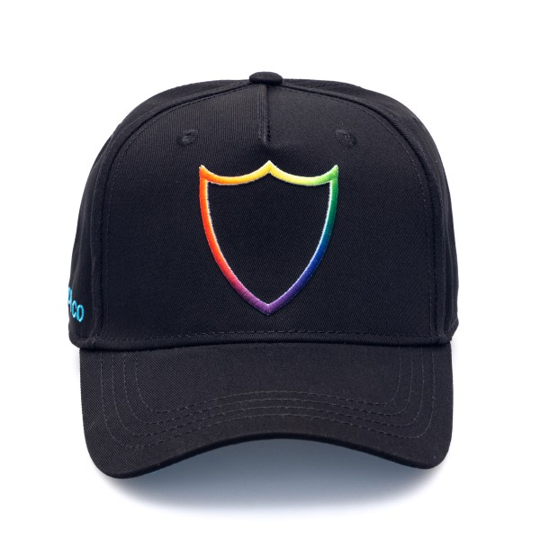 Black hat with multicolored logo                                                                                                                      Htc Los Angeles 21SHTCA002 back