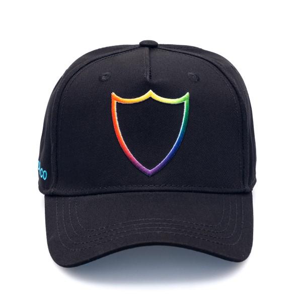Cappello nero con logo multicolore                                                                                                                    Htc Los Angeles 21SHTCA002 retro