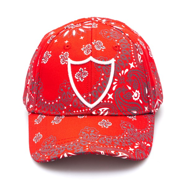 Red baseball cap with paisley print                                                                                                                   Htc Los Angeles 21SHTCA004 back