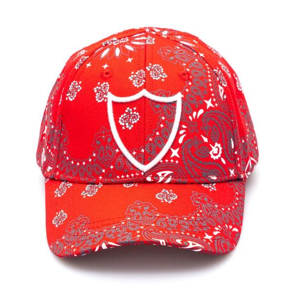 Cappello da baseball rosso con stampa paisley                                                                                                         Htc Los Angeles 21SHTCA004 retro