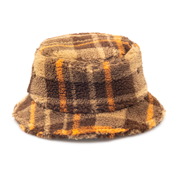 Cappello a secchiello marrone a quadri                                                                                                                Universal Works 25812 retro