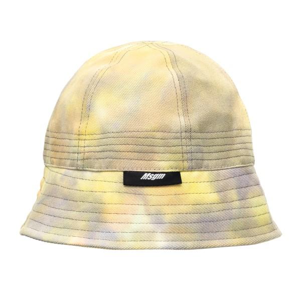 Cappello giallo effetto tie-dye                                                                                                                       Msgm 3040ML02A retro
