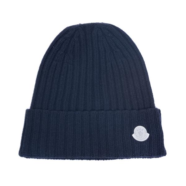 Cappello a cuffietta blu con logo                                                                                                                     Moncler Hyke 3B00002 retro