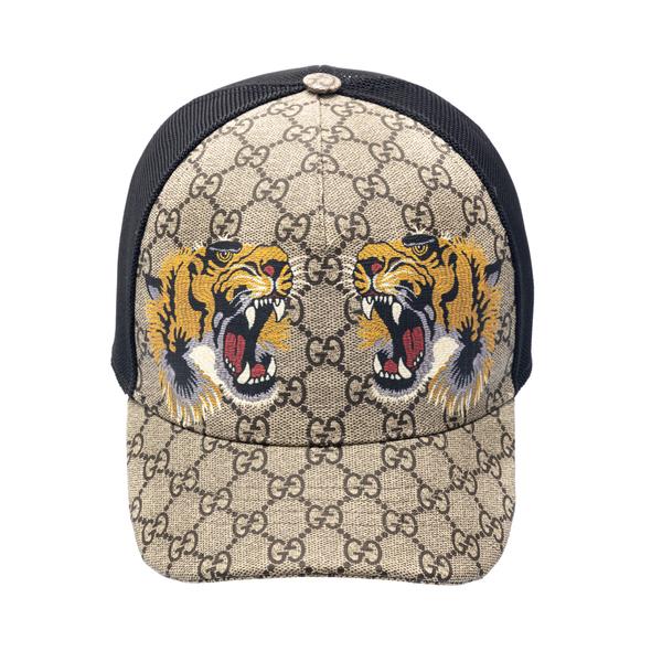 Baseball cap with tiger print                                                                                                                         Gucci 426887 back