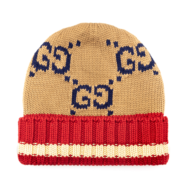 Multicolored beanie hat with logo                                                                                                                     Gucci 597636 back