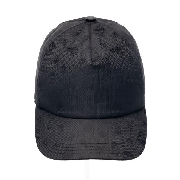 Black baseball cap with print                                                                                                                         Alexander mcqueen 624389 front