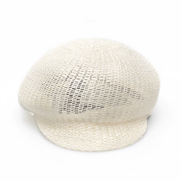 Soft white fishnet hat                                                                                                                                Emporio Armani 637376 back