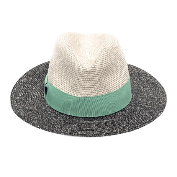 Cappello fedora multicolore con logo                                                                                                                  Emporio Armani 637380 retro