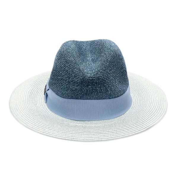 Fedora hat in shades of blue with logo                                                                                                                Emporio Armani 637380 back
