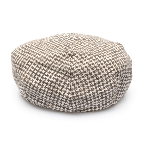 Two-tone beret with houndstooth pattern                                                                                                               Emporio Armani 637620 back