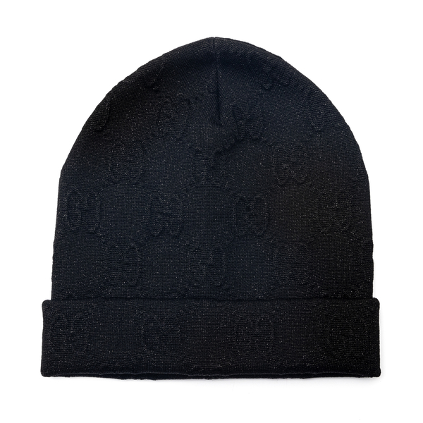 Black beanie hat with logo                                                                                                                            Gucci 661488 back