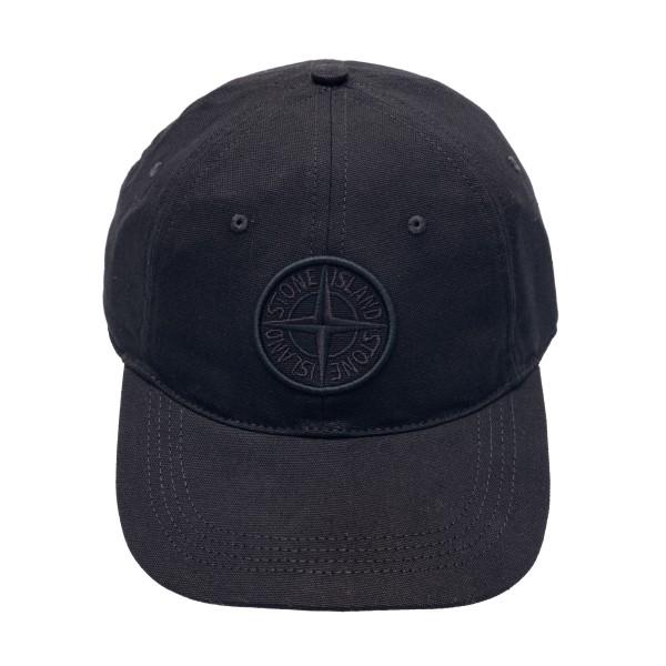 Cappello da baseball nero con patch logo                                                                                                              Stone island 7415994 front