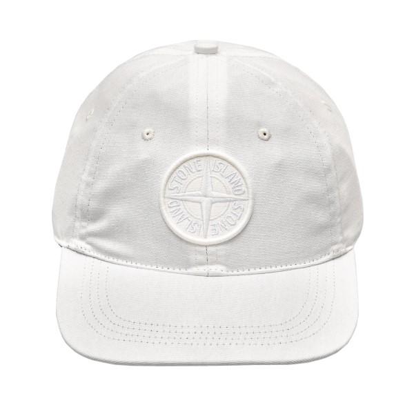 Cappello da baseball bianco con patch                                                                                                                 Stone Island 7415994 retro