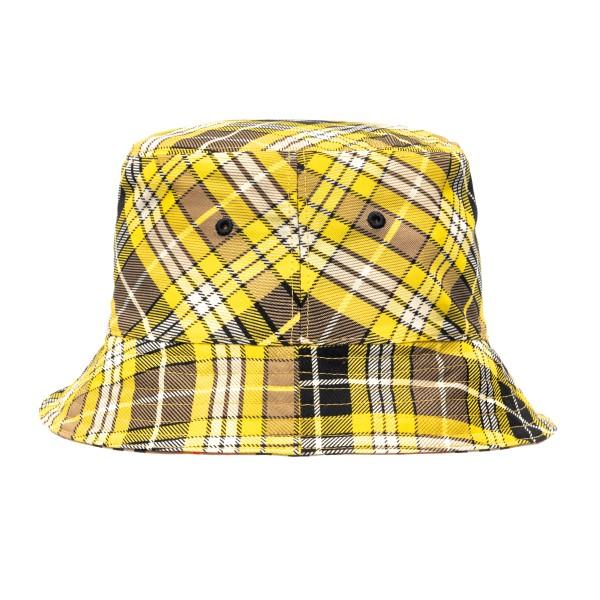 Cappello a secchiello giallo a quadri                                                                                                                 Burberry 8036994 retro