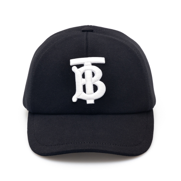 Black baseball cap with embroidery                                                                                                                    Burberry 8038141 back
