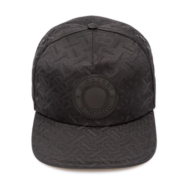 Black baseball cap with logo motif                                                                                                                    Burberry                                           8041633 back