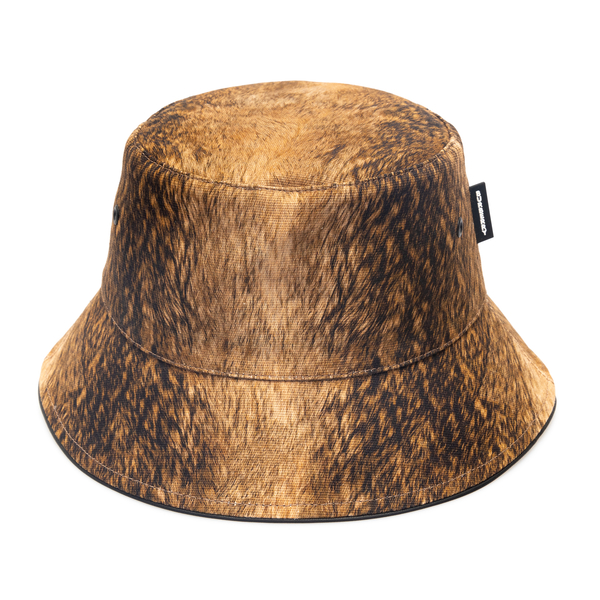 Cappello a secchiello marrone con nome brand                                                                                                          Burberry 8044079 retro