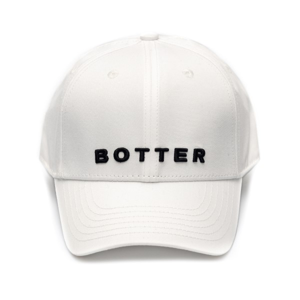 White baseball cap with brand name                                                                                                                    Botter 9003 front