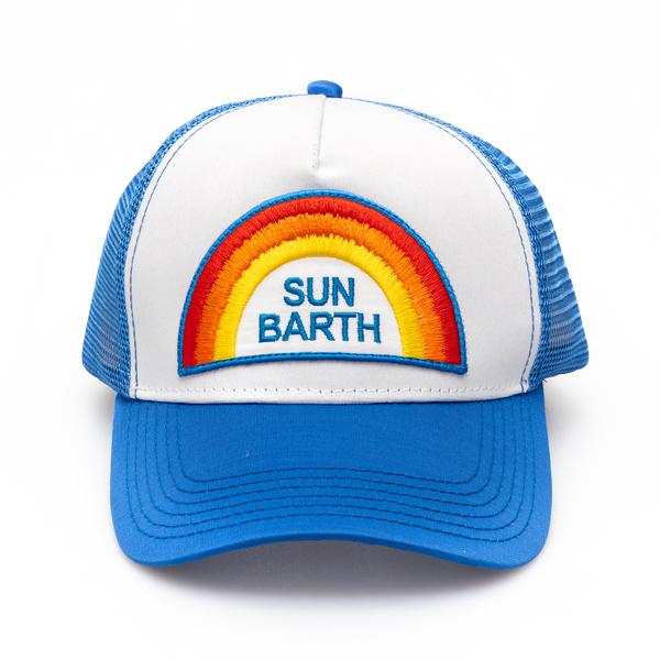 Cappello da baseball azzurro con ricamo                                                                                                               Saint Barth BASEMAN retro