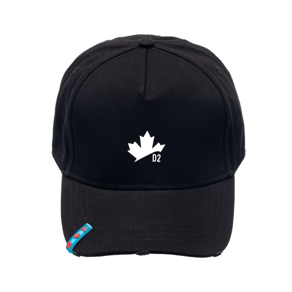 Cappello da baseball nero con applicazione                                                                                                            Dsquared2 BCM0405 retro