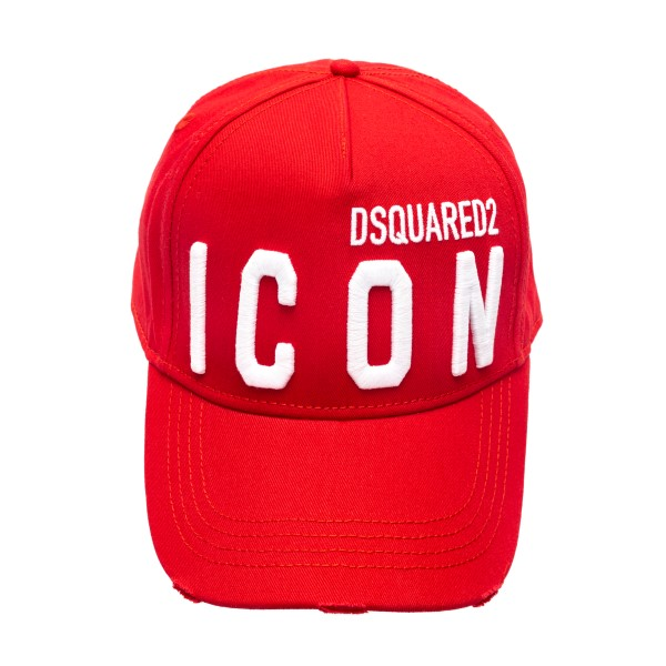 Red baseball cap with logo embroidery                                                                                                                 Dsquared2 BCM0412 front