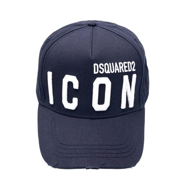 Blue baseball cap with logo                                                                                                                           Dsquared2 BCM0412 front