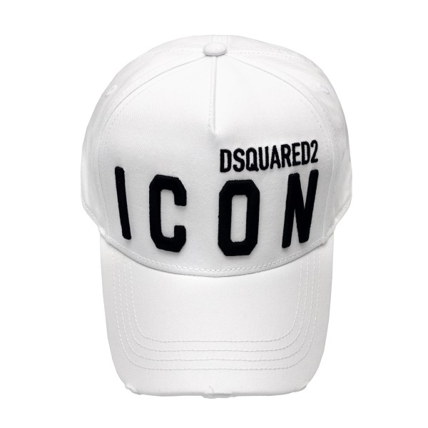 White baseball cap with logo                                                                                                                          Dsquared2 BCM0412 front
