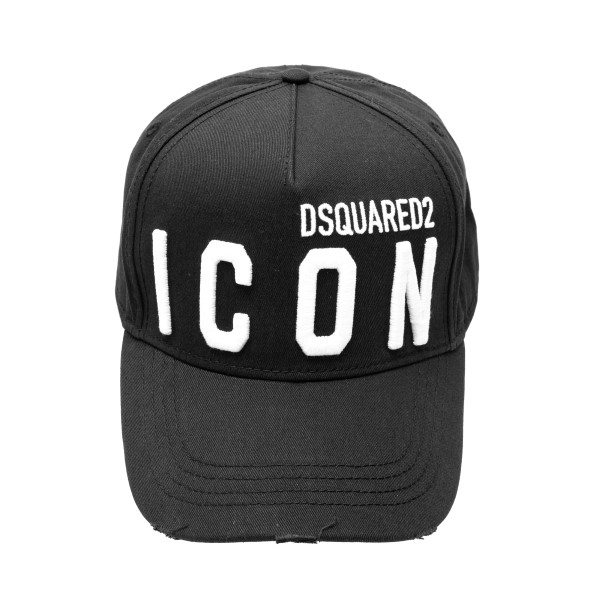 Black baseball cap with logo                                                                                                                          Dsquared2 BCM0412 front