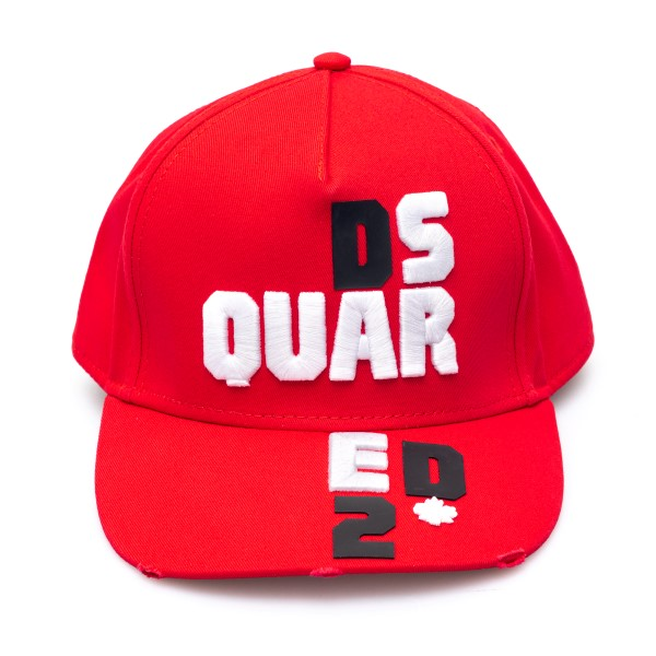 Red baseball cap with embroidery                                                                                                                      Dsquared2 BCM0414 back