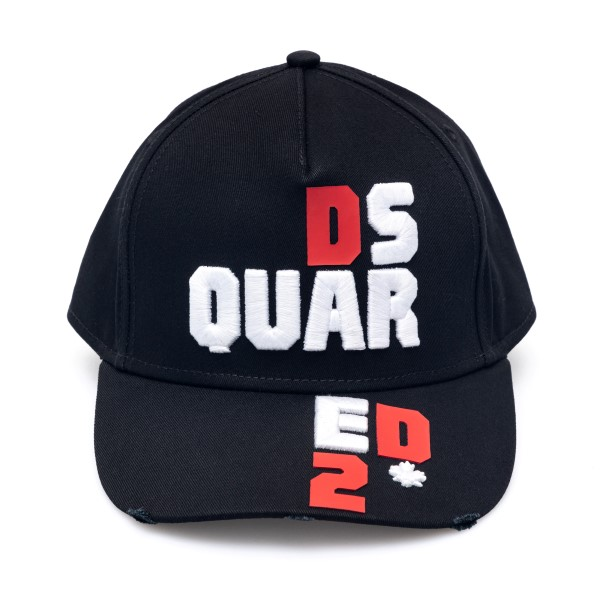 Black baseball cap with embroidery                                                                                                                    Dsquared2 BCM0414 back
