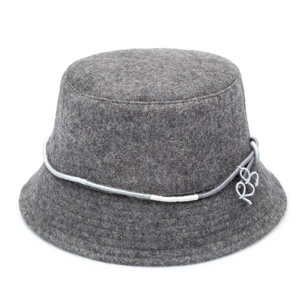 Grey bucket hat with logo                                                                                                                             Ruslan Baginskiy BCT030 back