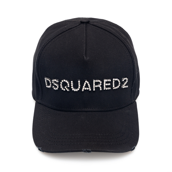 Black baseball cap with rhinestones                                                                                                                   Dsquared2 BCW0028 back