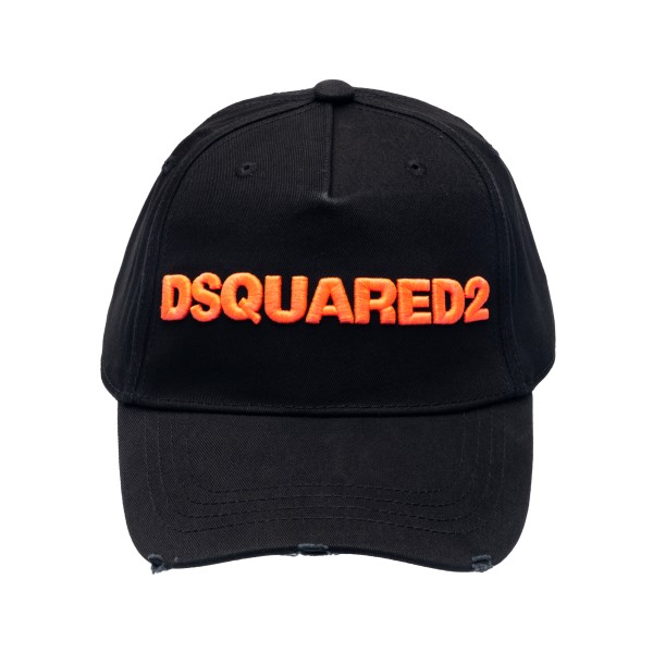 Black baseball cap with logo embroidery                                                                                                               Dsquared2 BCW0028 back